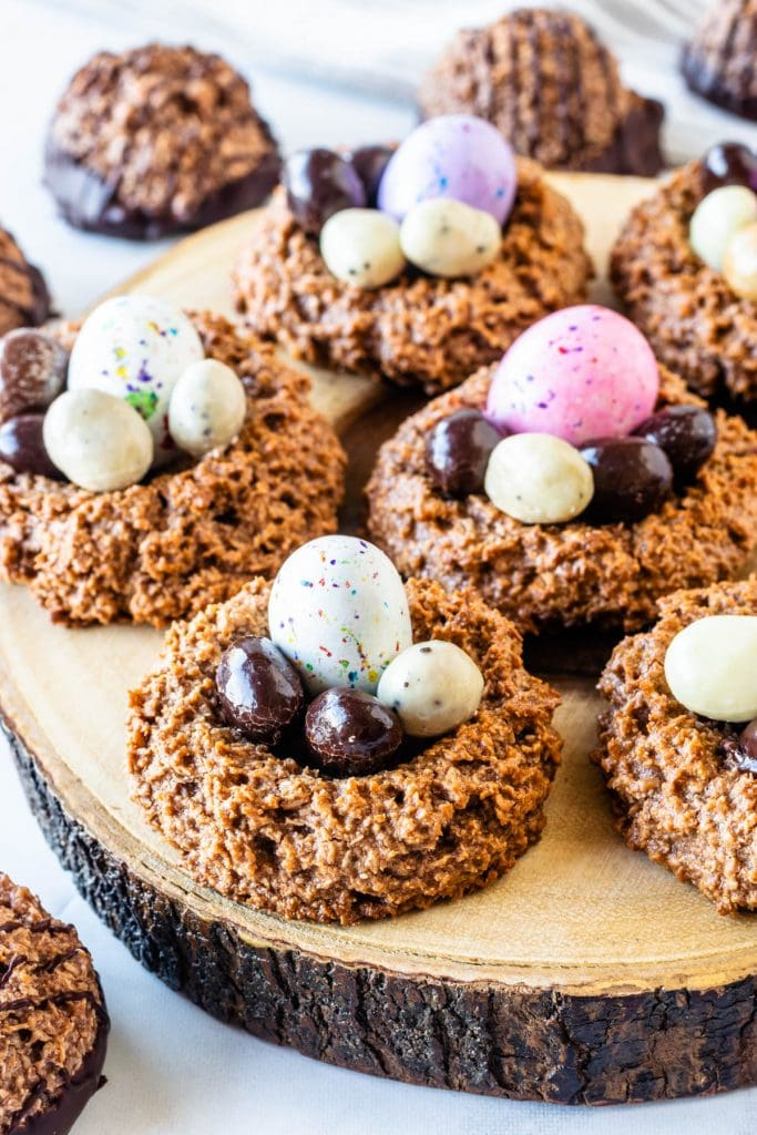 Chocolate Coconut Macaroons Easter nests