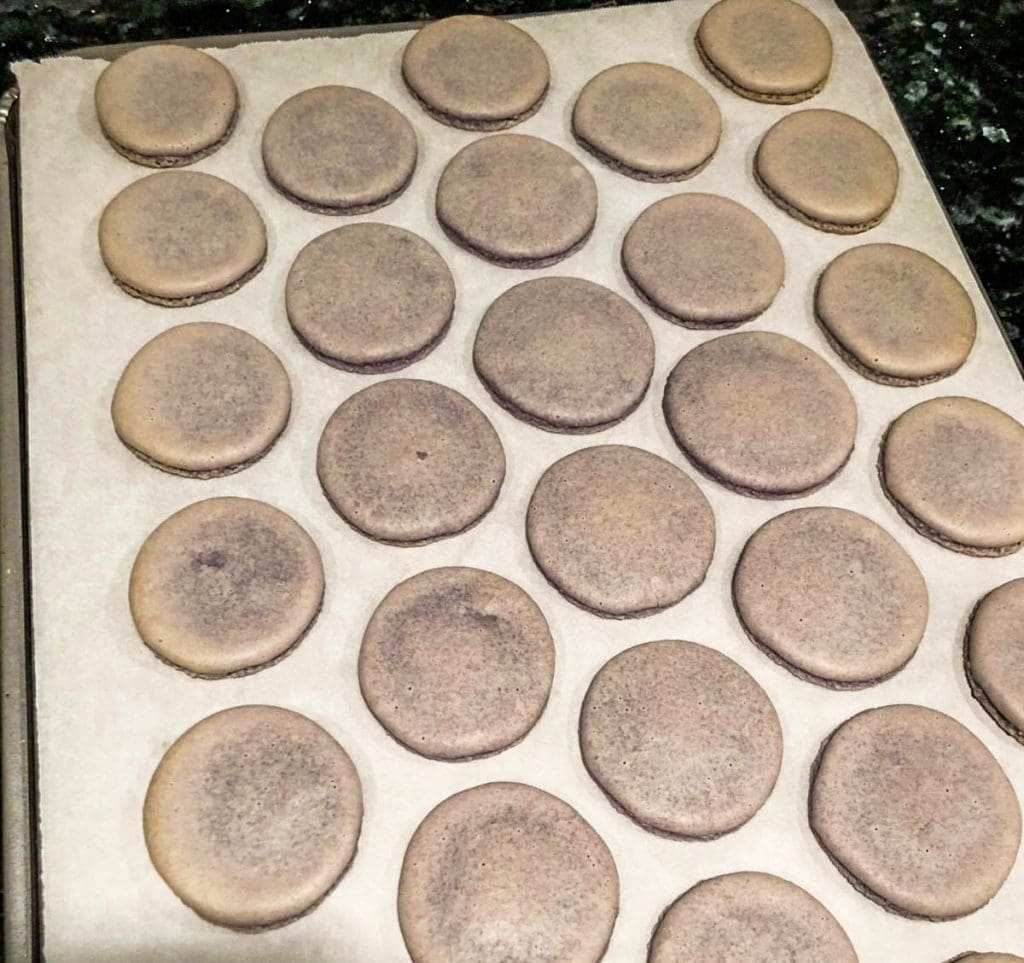 speckled macaron shells for macaron troubleshooting guide.