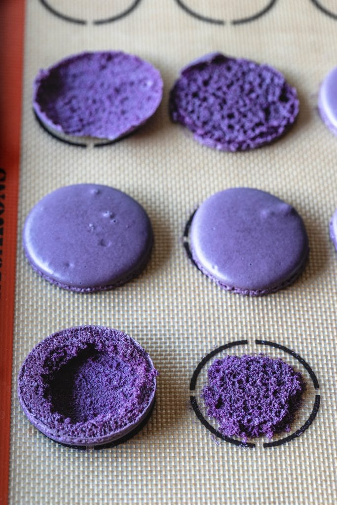macarons without the bottom attached to them.