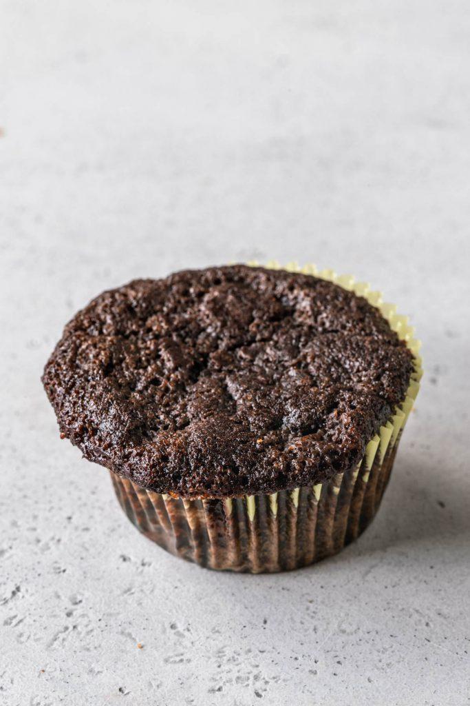 chocolate cupcake flat.