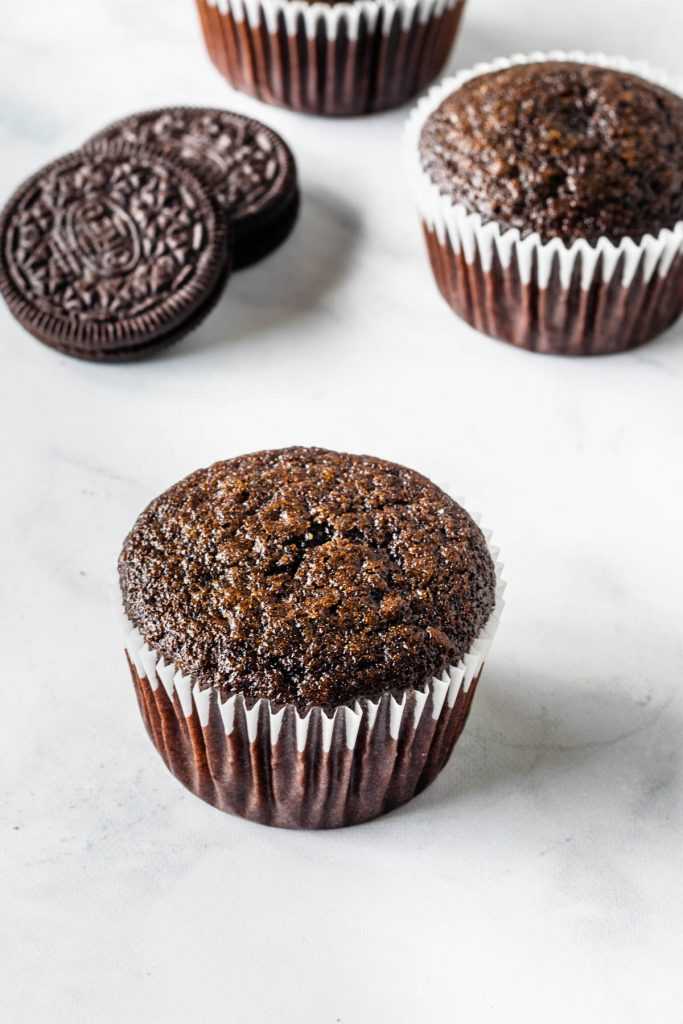 cupcake with a sticky top.