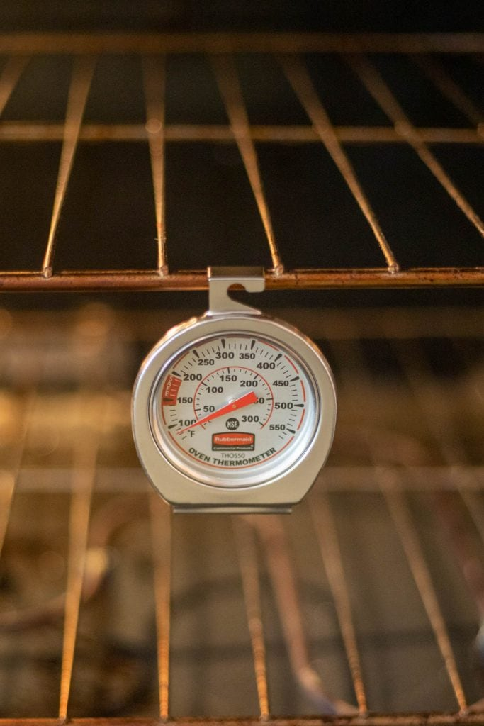 oven thermometer.