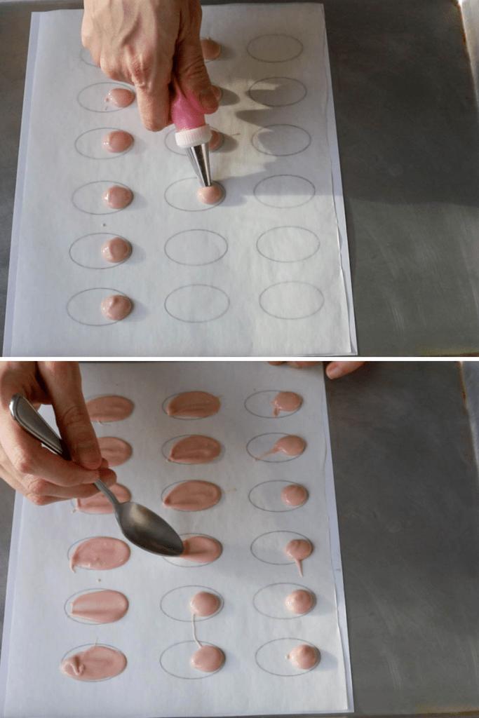 making chocolate wings.