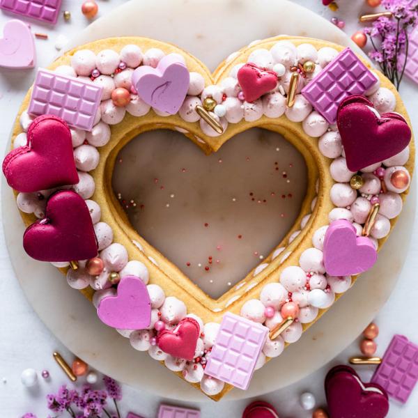 Heart Cookie Cake