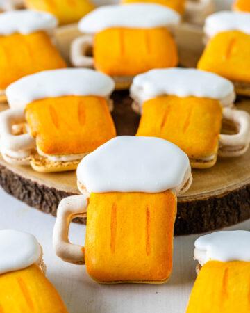 macarons shaped like beer.